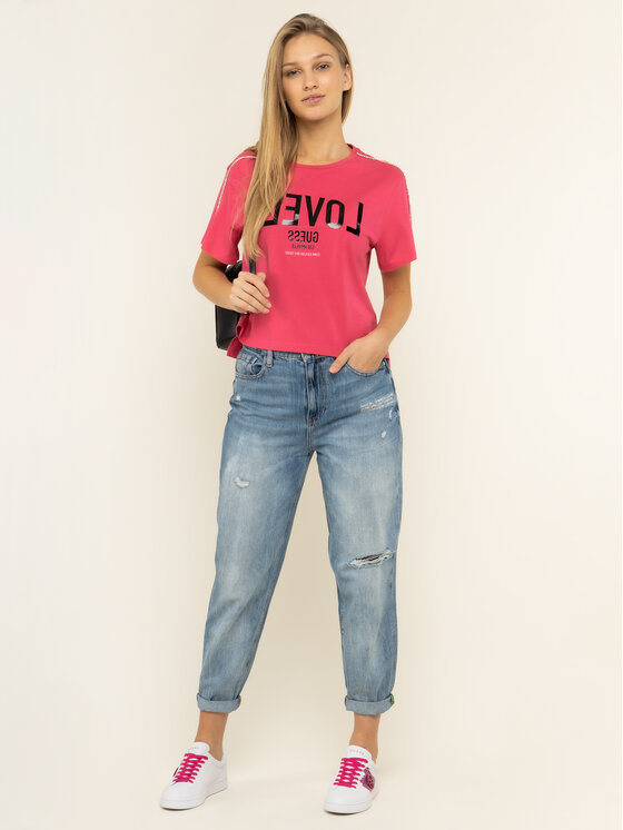 Guess Guess T-Shirt W01I95 JA900 Ροζ Relaxed Fit