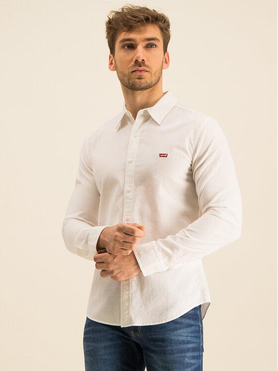 Levi's® Levi's® Cămașă Long Sleeved Shirt 86625-0002 Alb Slim Fit