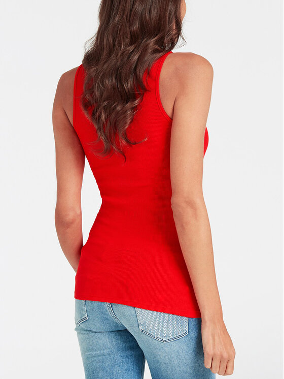 Guess Guess Top W93I37 K1810 Roșu Slim Fit