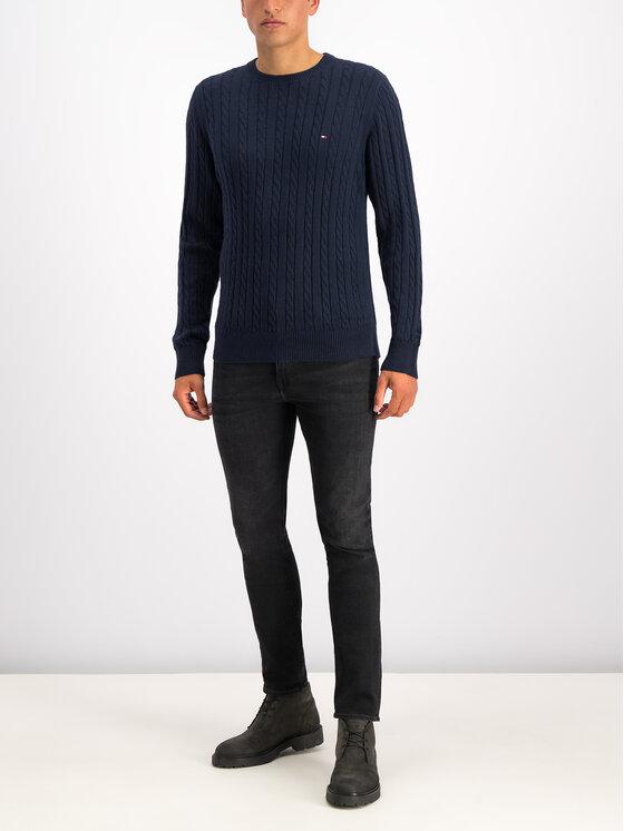 Tommy Hilfiger Tommy Hilfiger Sweater Cable MW0MW11681 Sötétkék Regular Fit