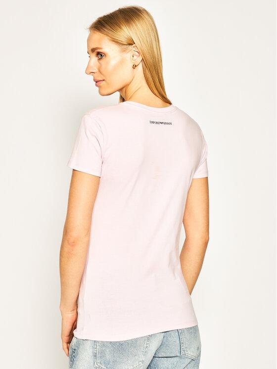 Emporio Armani Emporio Armani T-Shirt 3H2T6F 2JQAZ 0322 Różowy Regular Fit