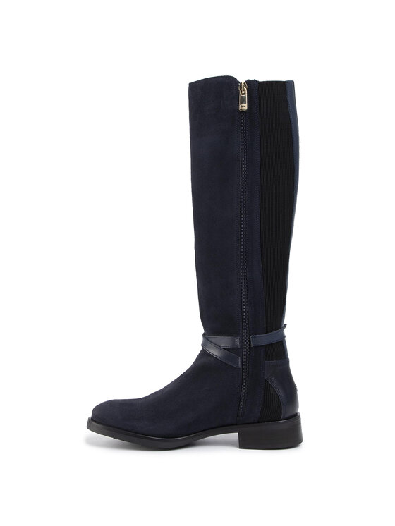 TOMMY HILFIGER TOMMY HILFIGER Ilgaauliai Hardware Mix Longboot FW0FW04282 Tamsiai mėlyna
