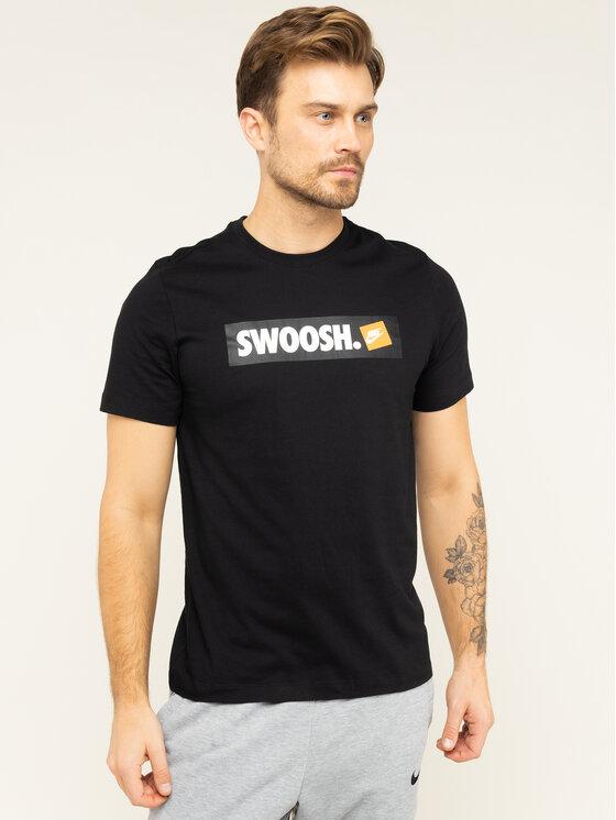 NIKE NIKE Тишърт NSW Tee Swoosh AR5027 Черен Standard Fit