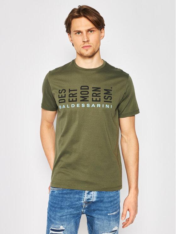 Baldessarini Marškinėliai Terenzo 47399/000/5357 Žalia Modern Fit