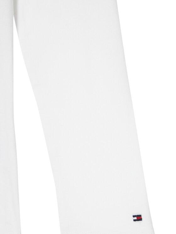 Tommy Hilfiger Tommy Hilfiger Bluzka Script Foil Film Tee KG0KG05501 M Biały Regular Fit