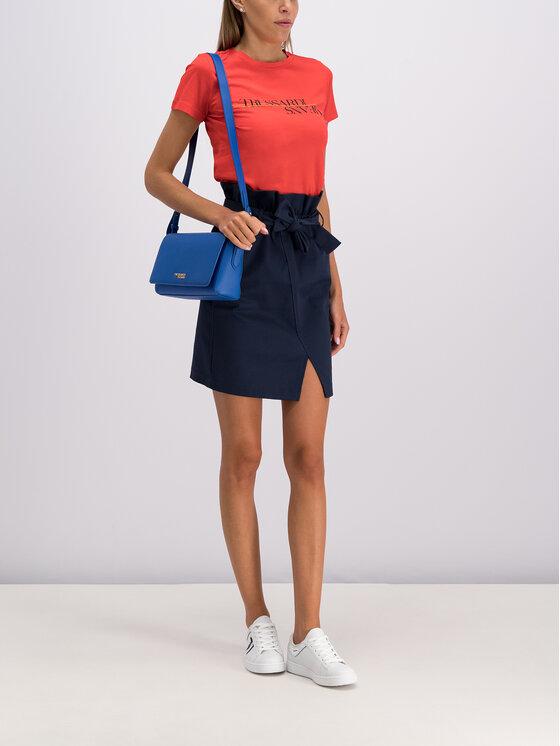 Trussardi Trussardi Mini sijonas 56G00070 Tamsiai mėlyna Regular Fit