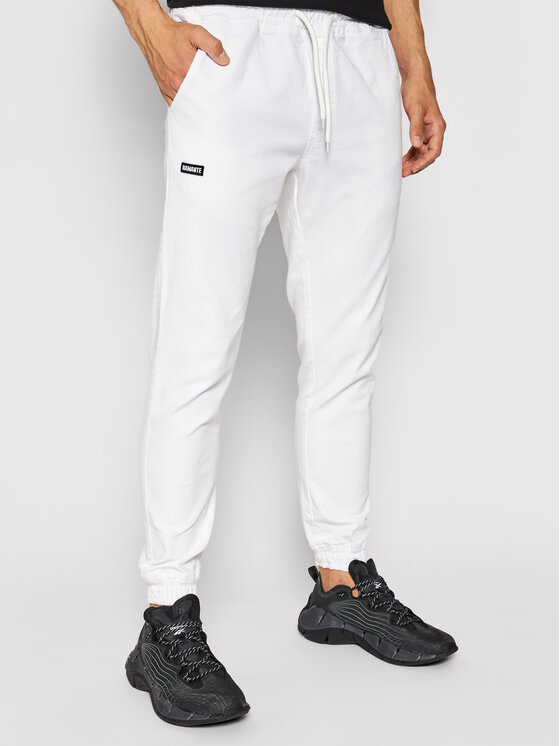 Diamante Wear Jogger kelnės Unisex Classic 4054 Balta Regular Fit