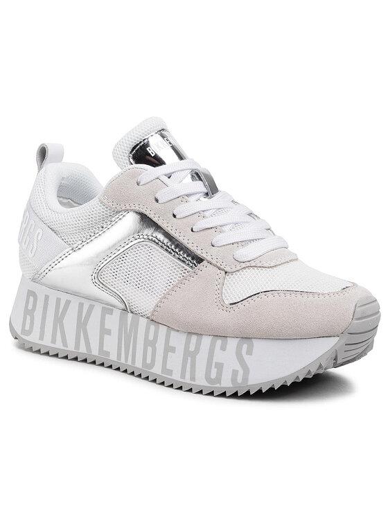 Bikkembergs Laisvalaikio batai Low Top Lace Up B4BKW0096 Balta