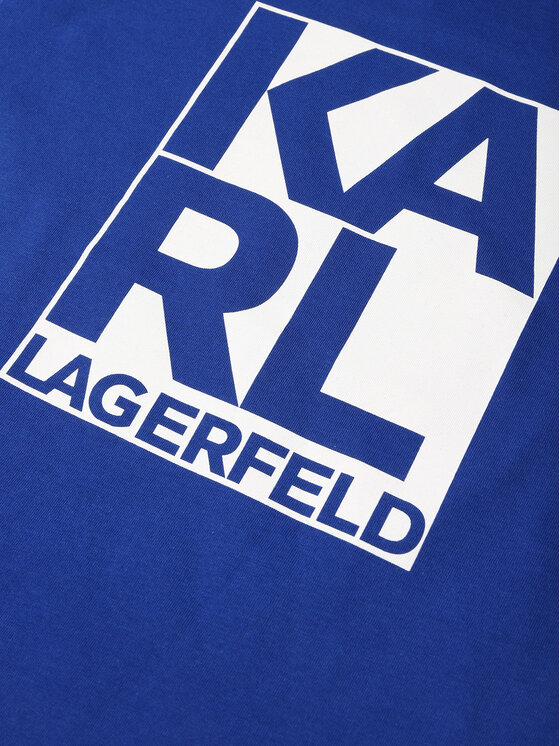 KARL LAGERFELD KARL LAGERFELD T-Shirt Z25222 D Tmavomodrá Regular Fit