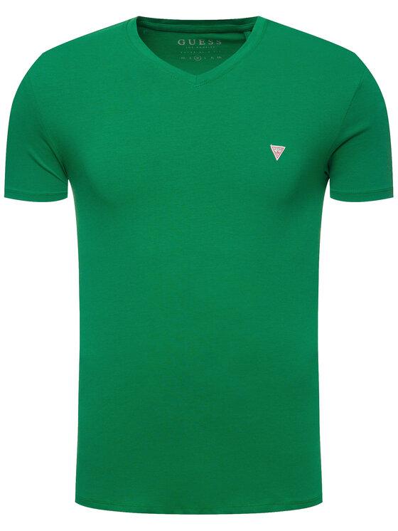 Guess Guess Marškinėliai M01I32 J1300 Žalia Regular Fit
