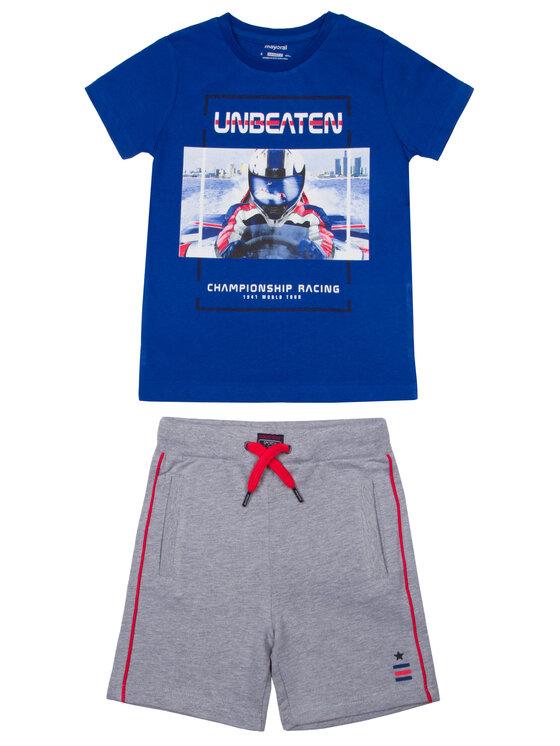 Mayoral Mayoral Komplet t-shirt, top i spodenki 3607 Kolorowy Regular Fit