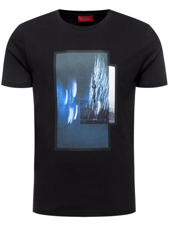 Hugo Hugo T-Shirt Dinge 50421649 Schwarz Regular Fit