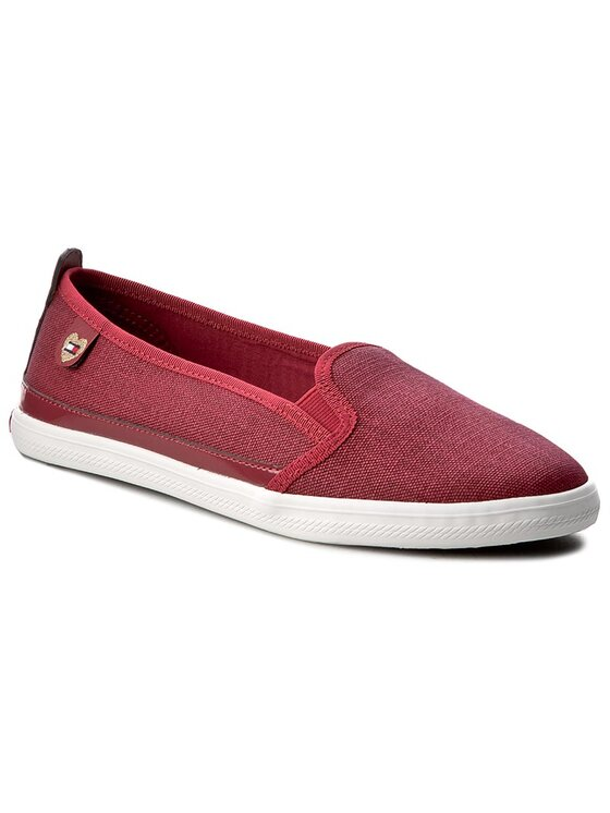 Tommy Hilfiger Tommy Hilfiger Sneakers aus Stoff Keira Hg 2D1 FW0FW00342 Dunkelrot