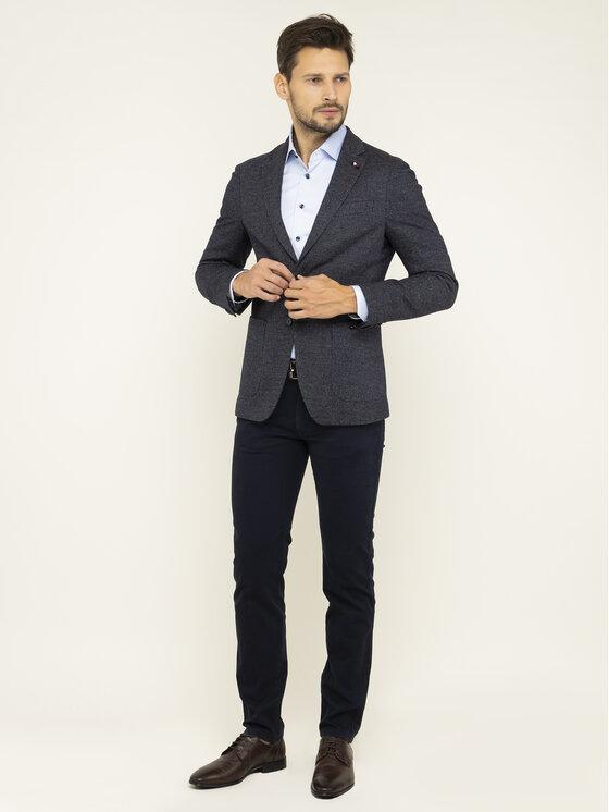 Tommy Hilfiger Tailored Tommy Hilfiger Tailored Zakó Micro Desing Blazer TT0TT06031 Sötétkék Slim Fit