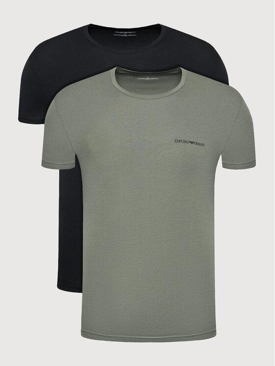 Emporio Armani Underwear 2 marškinėlių komplektas 111267 1A717 06621 Juoda Regular Fit