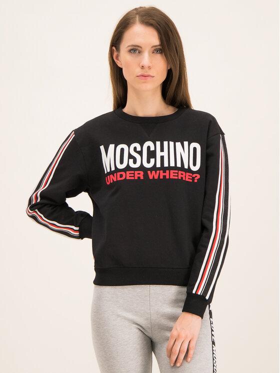 MOSCHINO Underwear & Swim Bluza A1712 9001 Czarny Regular Fit