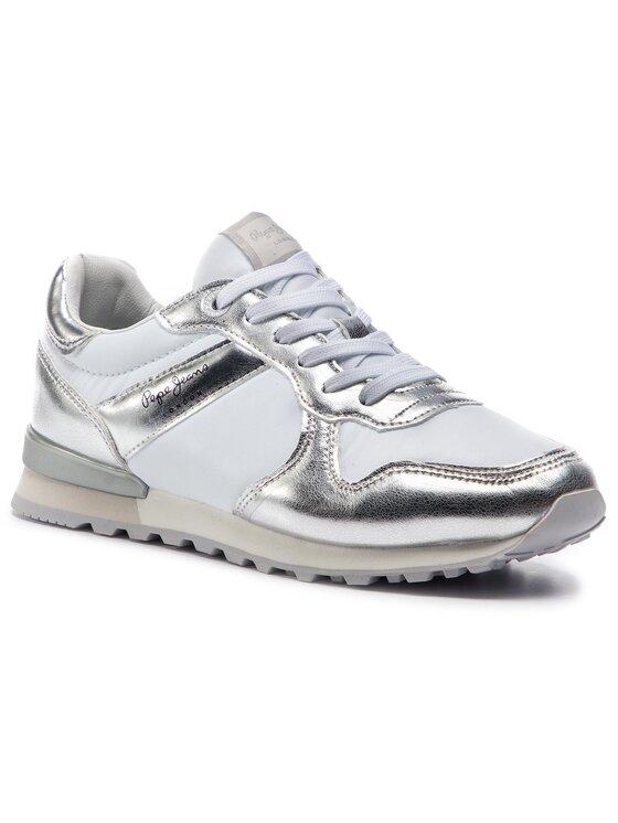 Pepe Jeans Pepe Jeans Sneakersy Verona W Greek PLS30873 Biela