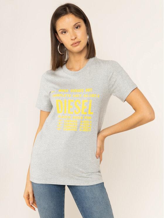 Diesel Diesel T-shirt T-Sily-Zf 00SYVT 0091A Gris Regular Fit
