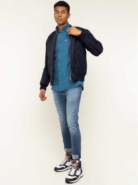 Tommy Jeans Tommy Jeans Πουκάμισο Tjm Twill Gingham DM0DM07503 Μπλε Regular Fit
