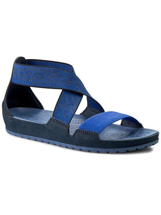 Crocs Crocs Sandály Anna Ankle Strap Sandal 203001 Tmavomodrá