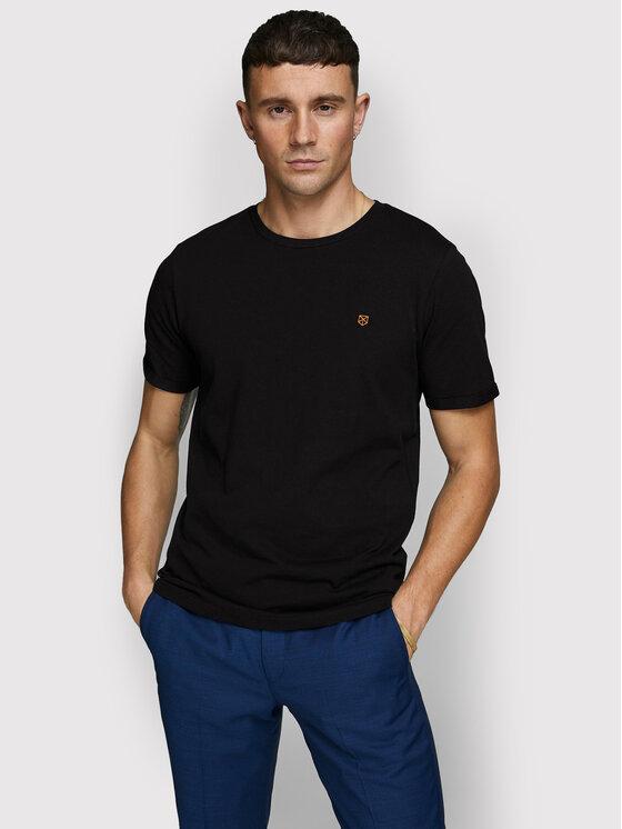 Jack&Jones PREMIUM Marškinėliai Blahardy 12166527 Juoda Slim Fit