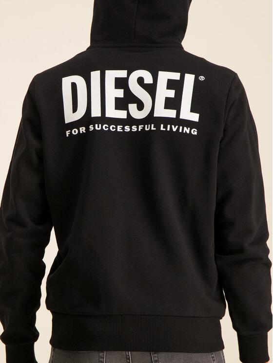 Diesel Diesel Mikina S-Gir 00SAV1 0BAWT Čierna Regular Fit