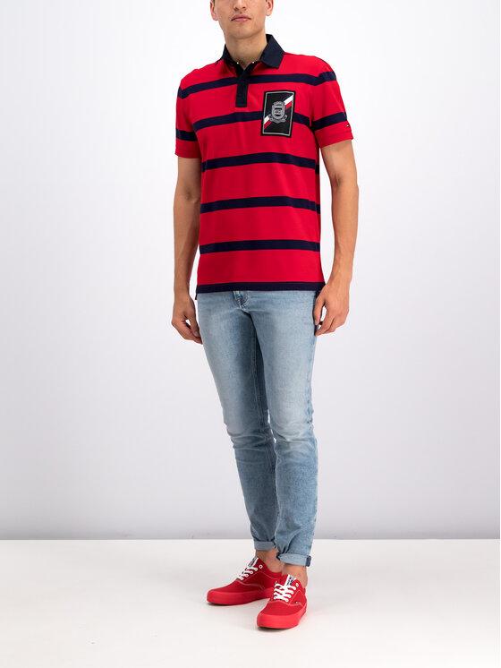 Tommy Hilfiger Tommy Hilfiger Тениска с яка и копчета MW0MW10799 Червен Regular Fit