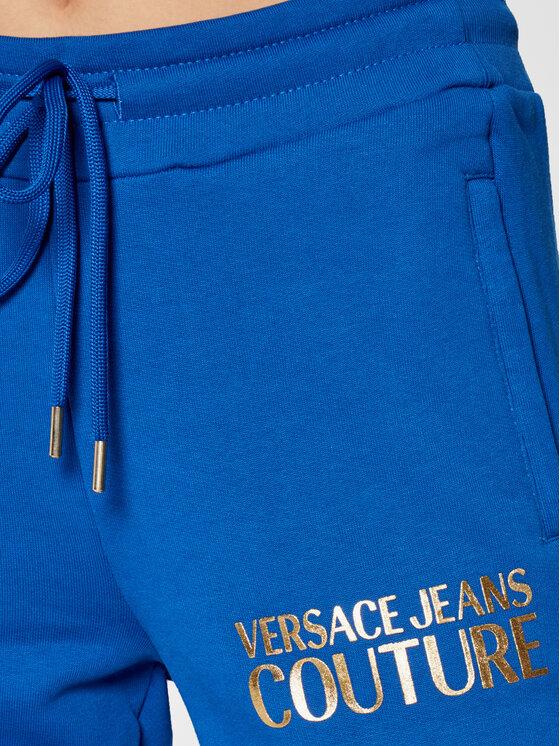 Versace Jeans Couture Versace Jeans Couture Spodnie dresowe Logo Foil 71HAAT04 Niebieski Regular Fit