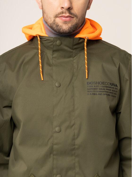 DC DC Kurtka snowboardowa EDYTJ03093 Zielony Regular Fit