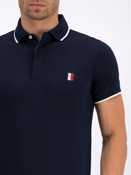 TOMMY HILFIGER TOMMY HILFIGER Polo Tipped MW0MW10773 Σκούρο μπλε Slim Fit