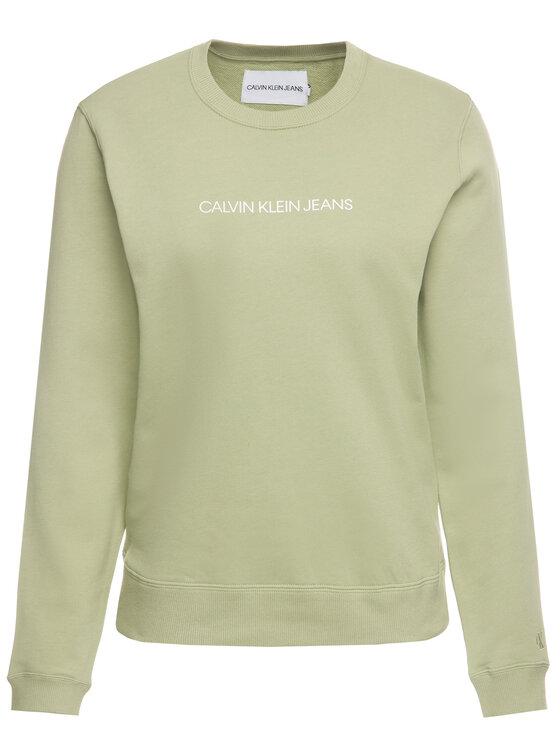 Calvin Klein Jeans Calvin Klein Jeans Суитшърт Institutional J20J212873 Зелен Regular Fit