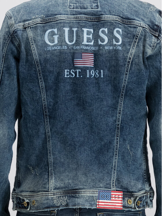 Guess Guess Дънково яке William M93N14 D3P70 Тъмносин Regular Fit