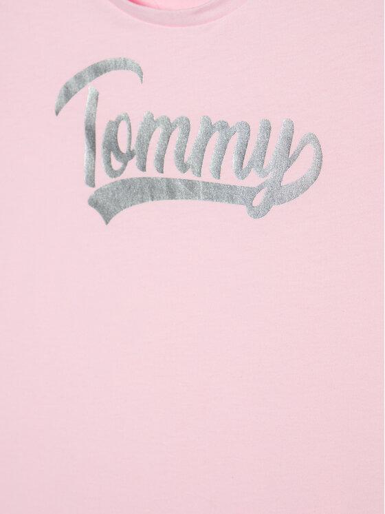 Tommy Hilfiger Tommy Hilfiger T-Shirt Foil Tee KG0KG05545 Różowy Regular Fit