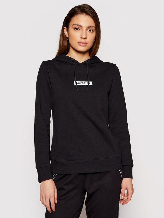 Calvin Klein Performance Džemperis Hoodie 00GWS1W303 Juoda Regular Fit