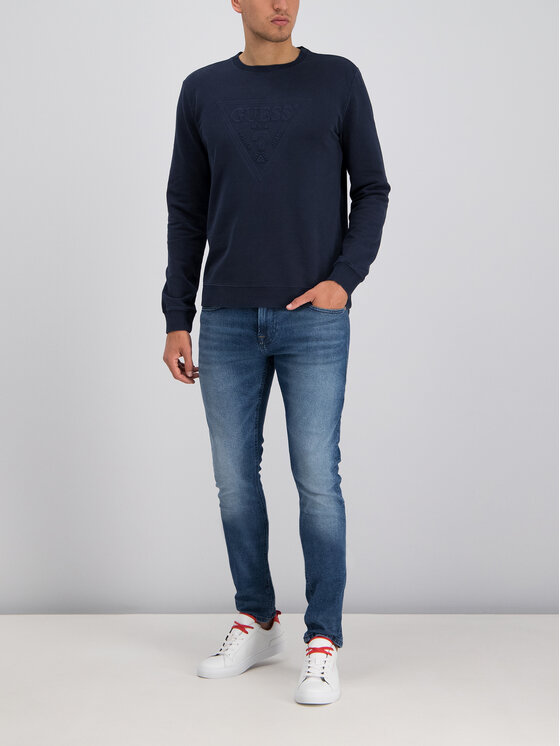 Guess Guess Džemperis Ben M94Q35 K92C0 Tamsiai mėlyna Regular Fit
