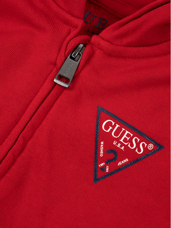 Guess Guess Felpa N81Q20 K5WK0 Rosso Regular Fit