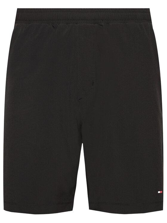 Tommy Hilfiger Tommy Hilfiger Szorty sportowe Logo Training MW0MW17257 Czarny Regular Fit