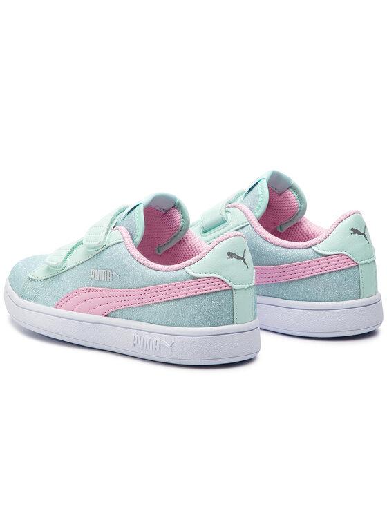 Puma Puma Sneakersy Smash V2 Glitz GlamV Ps 367378 07 Zelená