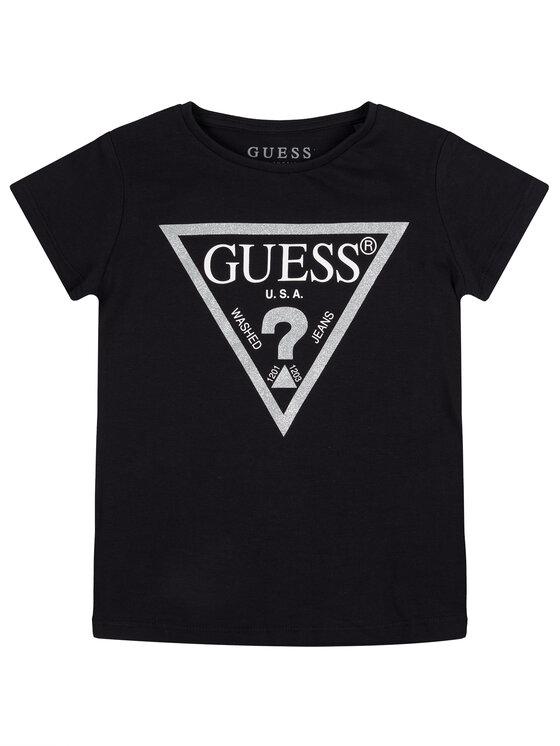 Guess Guess T-Shirt K73I56 K5M20 Czarny Regular Fit
