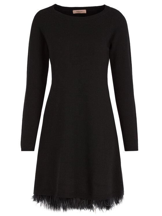 TwinSet TwinSet Φόρεμα υφασμάτινο 192TT3320 Μαύρο Regular Fit