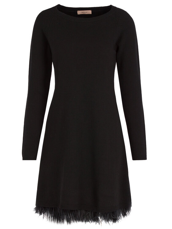 TWINSET TWINSET Úpletové šaty 192TT3320 Čierna Regular Fit