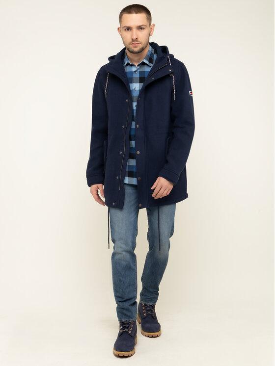 Tommy Jeans Tommy Jeans Parka Tjm Wool DM0DM06913 Sötétkék Regular Fit
