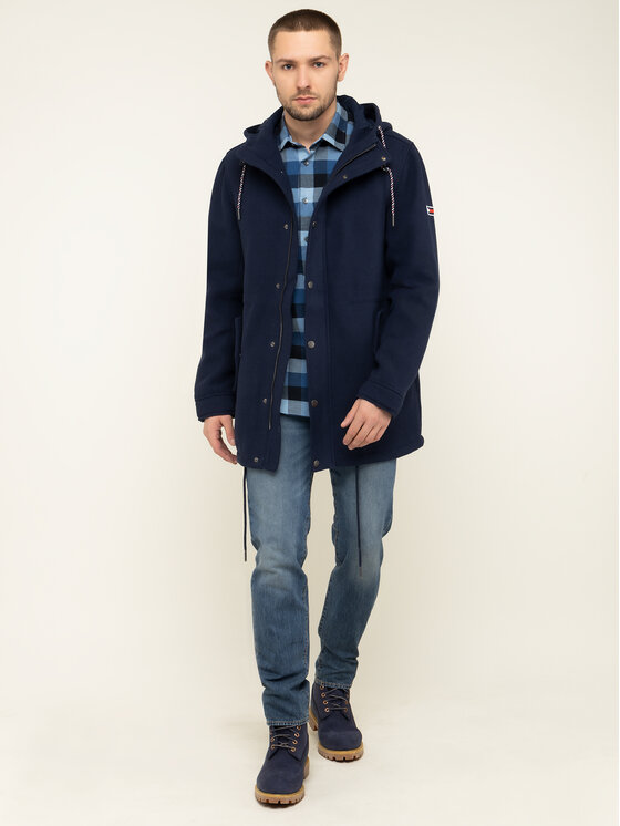Tommy Jeans Tommy Jeans Parka Tjm Wool DM0DM06913 Tmavomodrá Regular Fit