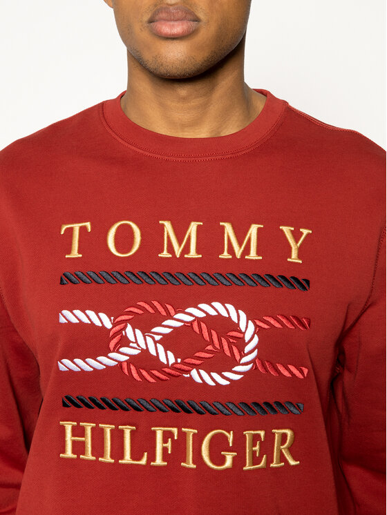 TOMMY HILFIGER TOMMY HILFIGER Суитшърт Icon MW0MW13053 Бордо Regular Fit