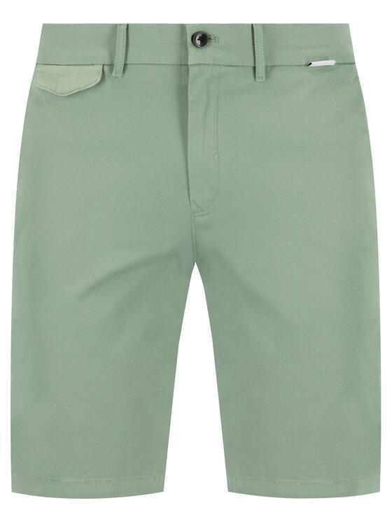 Calvin Klein Calvin Klein Шорти от плат Garmen Dyed K10K105314 Зелен Slim Fit