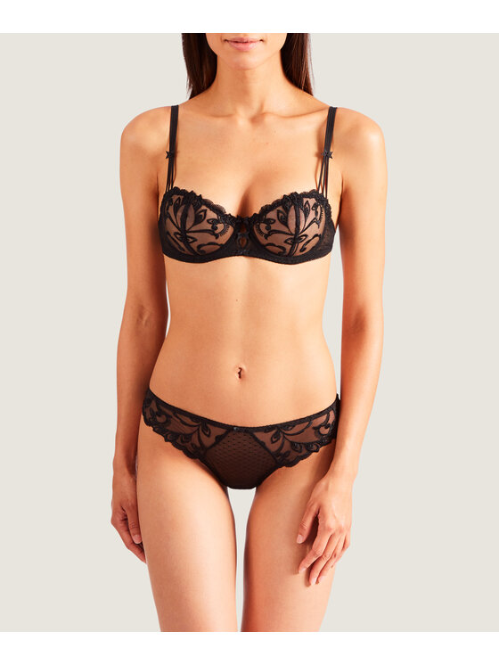 Aubade Aubade Дамски бикини тип бразилиана Au Bal de Flore OF26 Черен