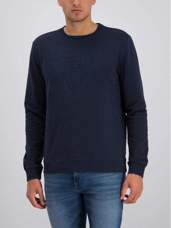 Guess Guess Sweatshirt Ben M94Q35 K92C0 Dunkelblau Regular Fit