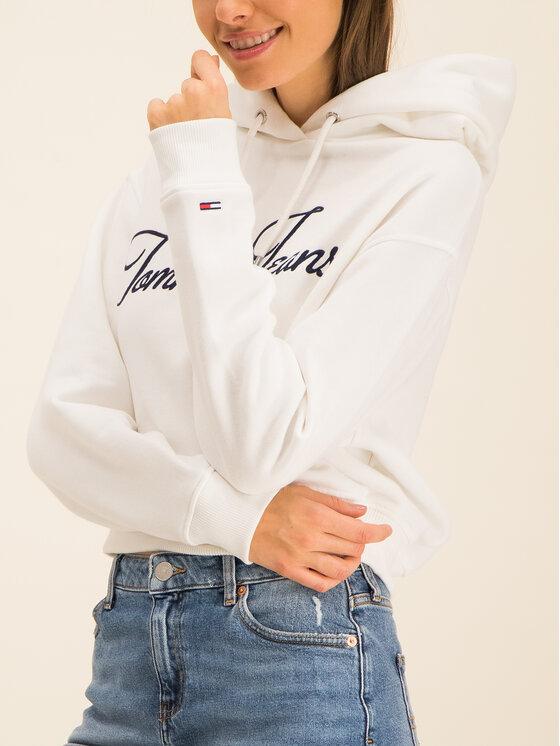 Tommy Jeans Tommy Jeans Mikina Tjw Modern Logo DW0DW07119 Biela Regular Fit