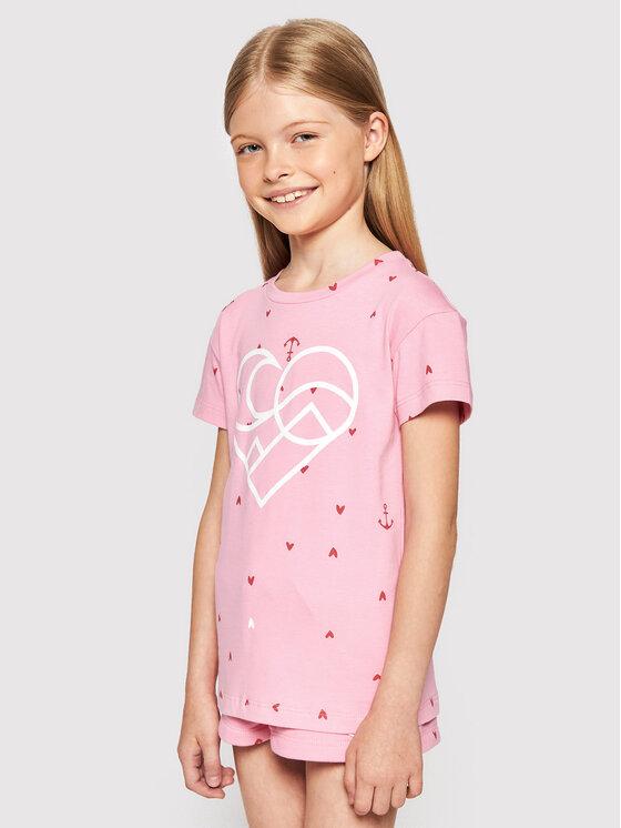 Femi Stories Marškinėliai Muun Rožinė Regular Fit