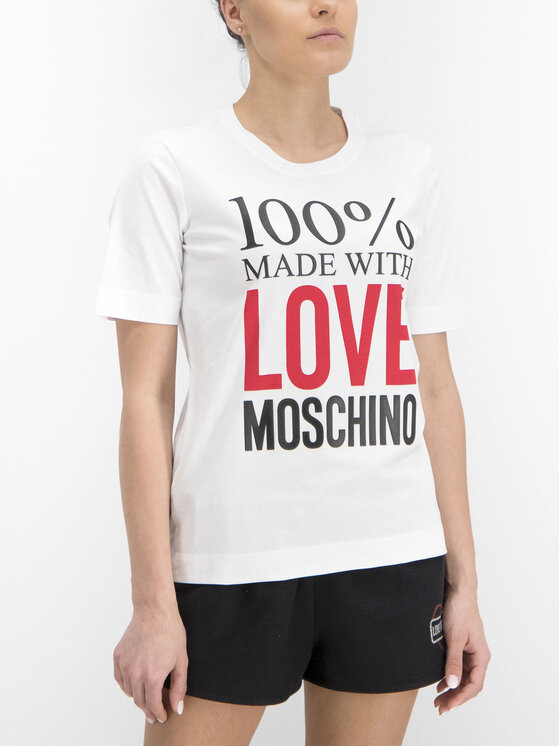LOVE MOSCHINO LOVE MOSCHINO T-Shirt W4F151IM3517 Weiß Regular Fit